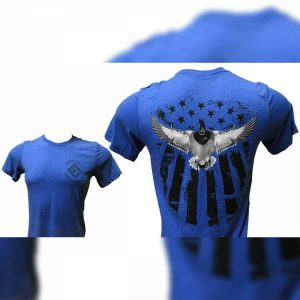 Blue Bella American Flag Duck Logo T-Shirt