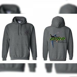 Gray Meat Hanger Logo Echo Duck Calls Hoodie