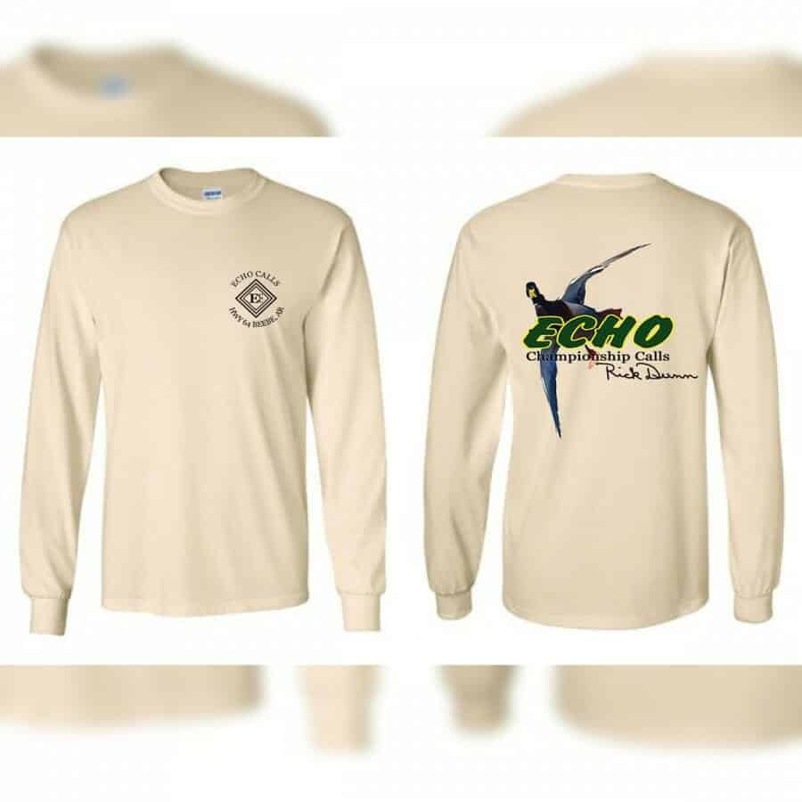 Natural Meat Hanger Long Sleeve Echo Duck Calls T-Shirt