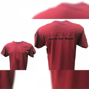 Red Gildan In Our Blood T-Shirt