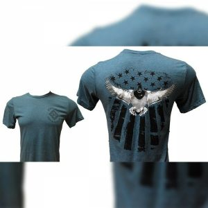 Sage Bella American Flag Duck Logo T-Shirt