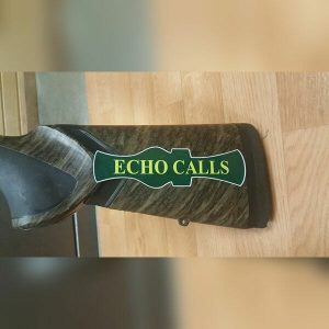 Gun Stock Echo Duck Calls Vinyl Sticker